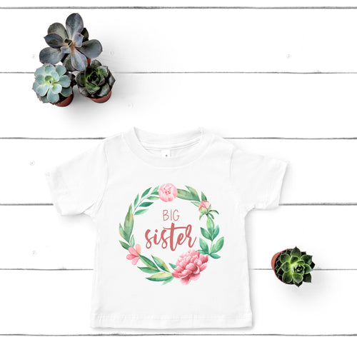 Big Sister Wreath T-Shirt