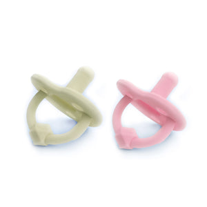 PINK AND CREAM PACIFIER - 2 Pack