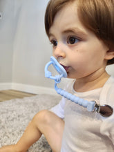 PACIFIER + CLIP - BLUE GIFT SET