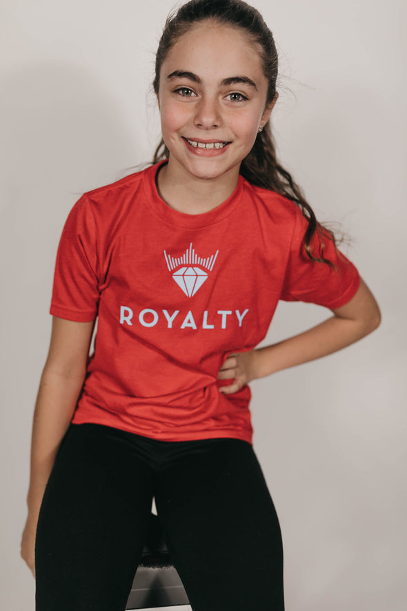 Youth Unisex Classic Royalty T-Shirt (Red/Ice Blue)