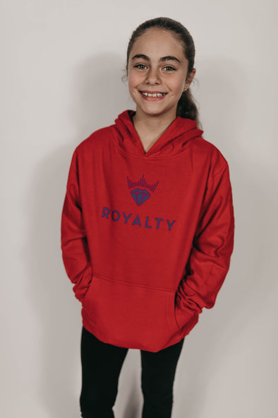 Youth Unisex Classic Hoodie (Red/Purple)