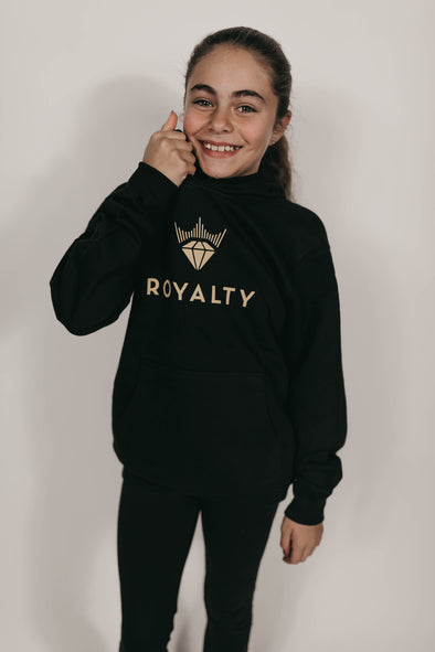 Youth Unisex Classic Hoodie (Black/Gold)