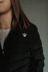 Fitted Matte Black Bubble Jacket