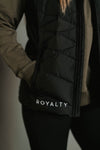 Fitted Matte Black Bubble Vest