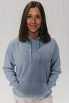 Lounge Hoodie (Pacific Blue/ White)