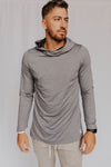 Men's Stretch-Fit Hoodie (Light Navy)