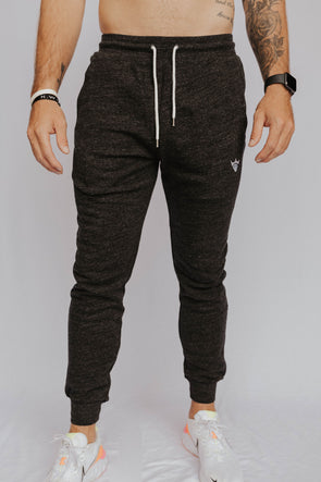 Men's Cotton Fleck Joggers (Black)