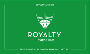 110G POLYESTER 3' X 5' ROYALTY FLAG (GREEN/WHITE)