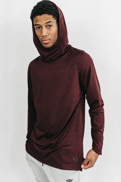 Men's Stretch-Fit Hoodie (Dark Burgundy)