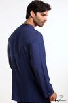 Men's Islamic Clothing: Blue Kurta
