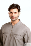 Men's Islamic Clothing: Grey Kurta
