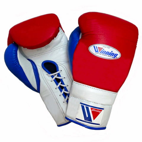 Winning Lace-up Boxing Gloves - Red · White · Blue - WJapan Store