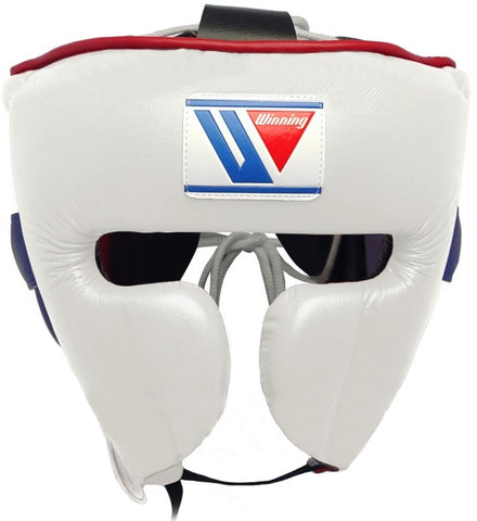 Winning Cheek Protector Headgear - White · Purple · Red