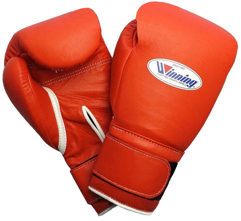 Winning Velcro Boxing Gloves - Orange - WJapan Store