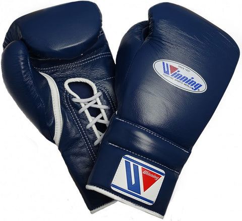 Winning Lace-up Boxing Gloves - Navy - WJapan Store