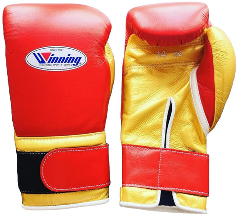Winning Velcro Boxing Gloves - Red · Gold - WJapan Store
