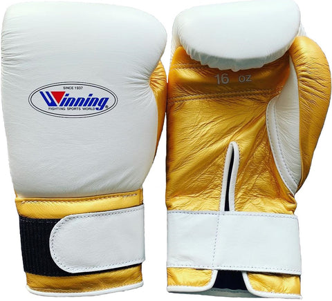 Winning Velcro Boxing Gloves - White · Gold - WJapan Store
