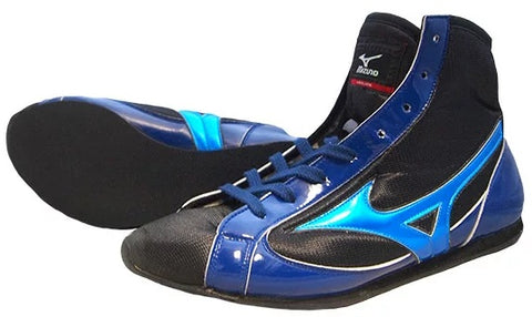Mizuno Short-Cut Type Boxing Shoes - Black · Blue