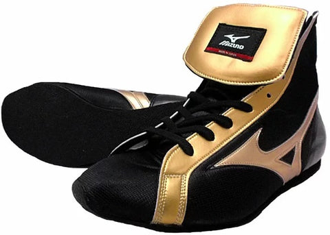 Mizuno Short-Cut FOT Type Boxing Shoes - Black · Gold