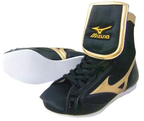 Mizuno Mid-Cut Type Boxing Shoes - Black · Gold
