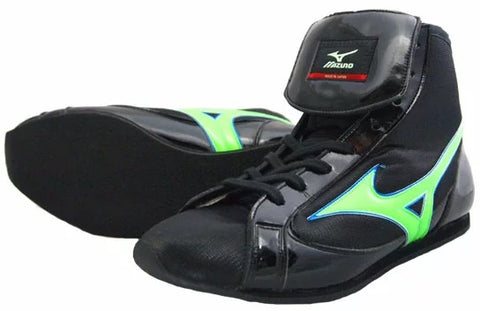 Mizuno Short-Cut FOT Type Boxing Shoes - Black · Green