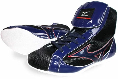 Mizuno Short-Cut FOT Type Boxing Shoes - Black · Navy