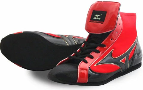 Mizuno Short-Cut FOT Type Boxing Shoes - Black · Red