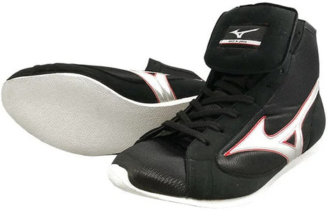 Mizuno Short-Cut FOT Type Boxing Shoes - Black · Silver
