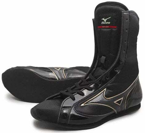 Mizuno High-Cut Type Boxing Shoes - Black