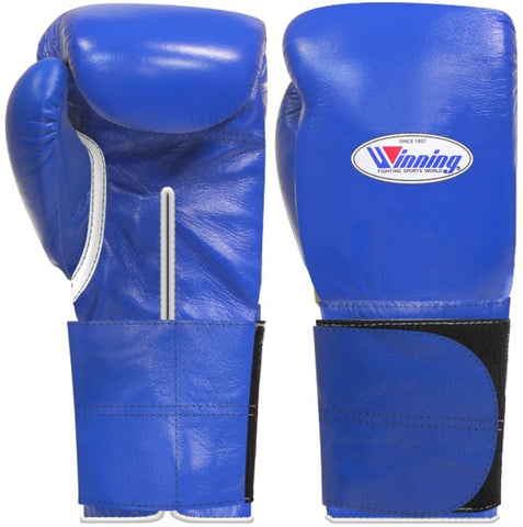Winning Wide Velcro Boxing Gloves - Blue