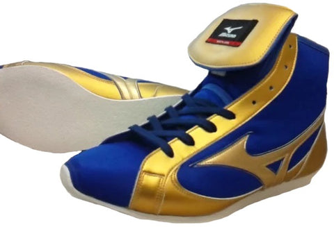 Mizuno Short-Cut FOT Type Boxing Shoes - Blue · Gold