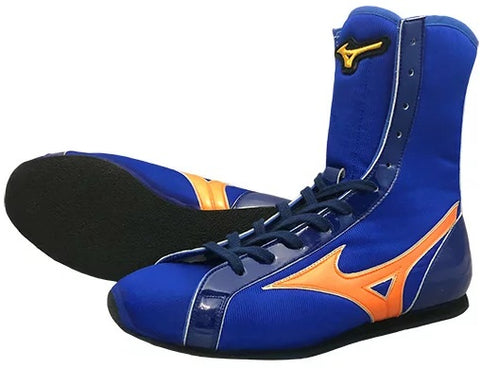 Mizuno High-Cut Type Boxing Shoes - Blue · Orange