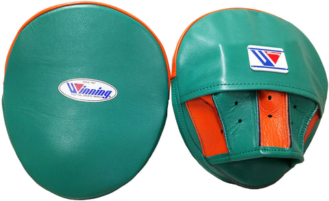 Winning Oval Curved Punch Mitts - Green · Orange - WJapan Store
