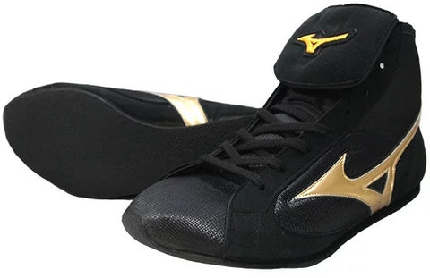 Mizuno Short-Cut FOT Type Boxing Shoes - Gold · Black