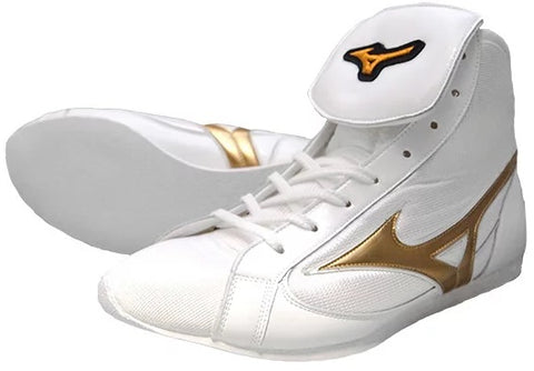 Mizuno Short-Cut FOT Type Boxing Shoes - Gold · White