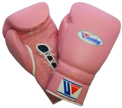 Winning Lace-up Boxing Gloves - Pastel Pink - WJapan Store