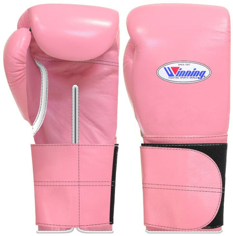 Winning Wide Velcro Boxing Gloves - Pastel Pink