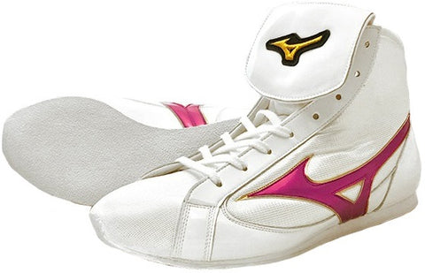Mizuno Short-Cut FOT Type Boxing Shoes - Pink · White