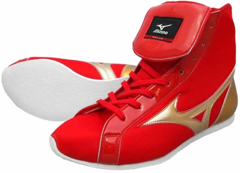 Mizuno Short-Cut FOT Type Boxing Shoes - Red · Gold