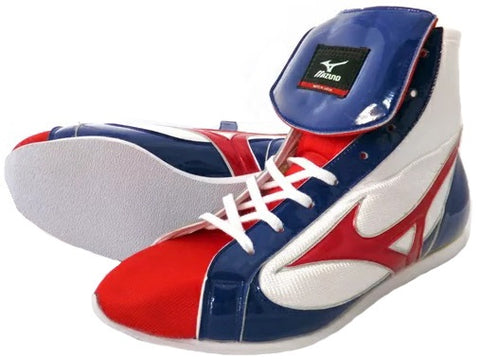 Mizuno Short-Cut FOT Type Boxing Shoes - Red · Navy · White