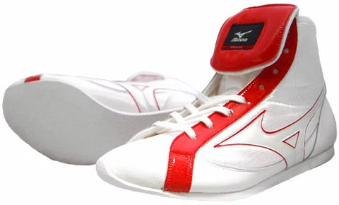 Mizuno Short-Cut FOT Type Boxing Shoes - Red · White