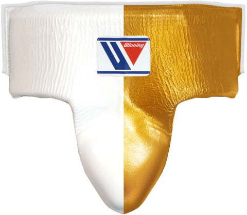 Winning High Cut Groin Protector - White · Gold