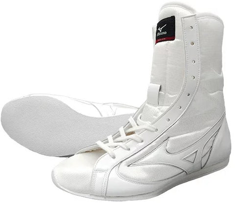 Mizuno High-Cut Type Boxing Shoes - White