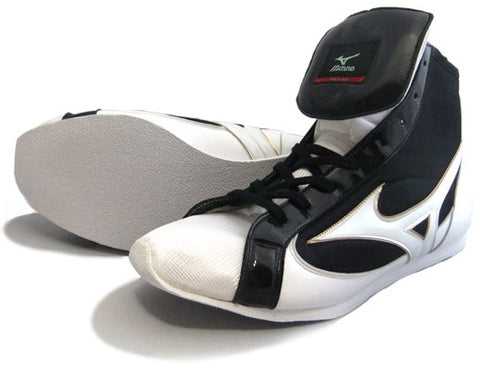 Mizuno Short-Cut FOT Type Boxing Shoes - White · Black