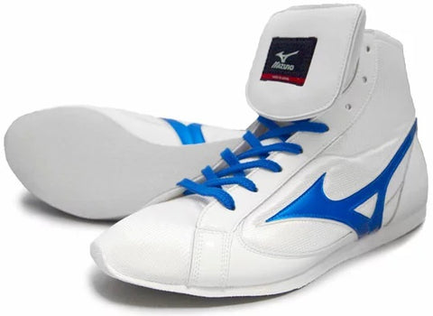 Mizuno Short-Cut FOT Type Boxing Shoes - White · Blue