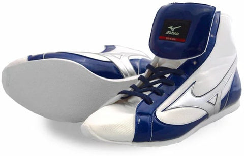 Mizuno Short-Cut FOT Type Boxing Shoes - White · Navy