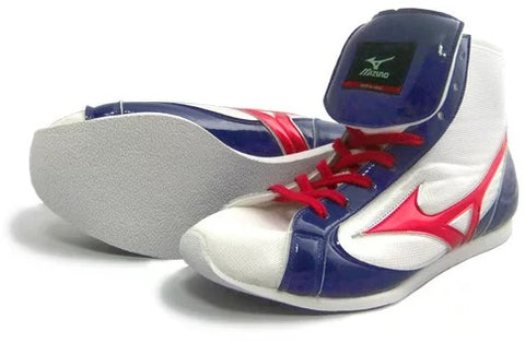 Mizuno Short-Cut FOT Type Boxing Shoes - White · Navy · Red