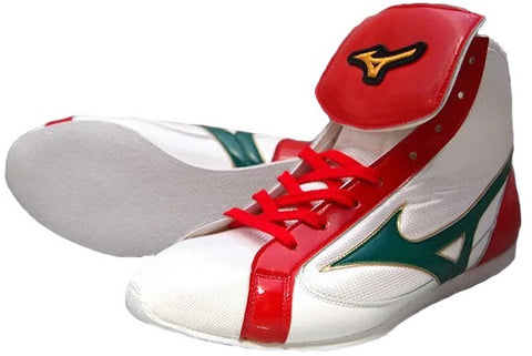 Mizuno Short-Cut FOT Type Boxing Shoes - White · Red · Green