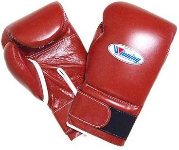 Winning Velcro Boxing Gloves - Brown - WJapan Store
