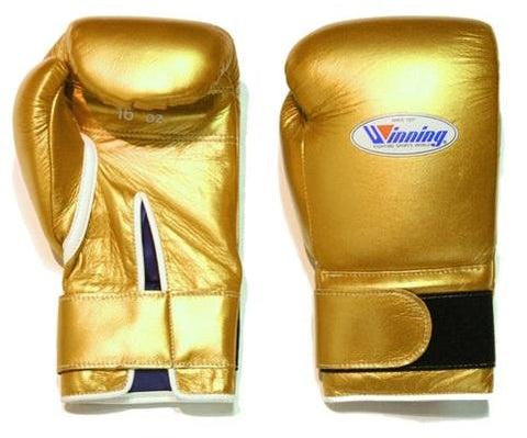 Winning Gold Velcro Boxing Gloves - WJapan Store